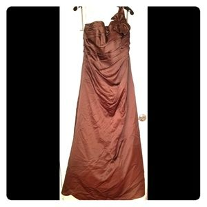 """David's Bridal Gown in """"cocoa"""" for TALL ladies"""